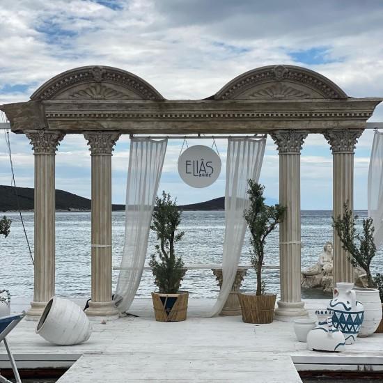 Ancient Greek themed beach we designed