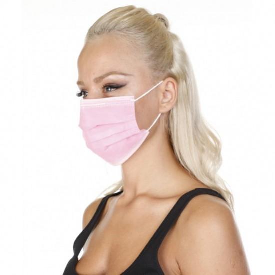 Wholesale Rubmedical Ultrasonic Surgical Mask Pink 3 Ply 50pcs in Box
