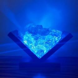 Book Shaped Handmade Blue Light