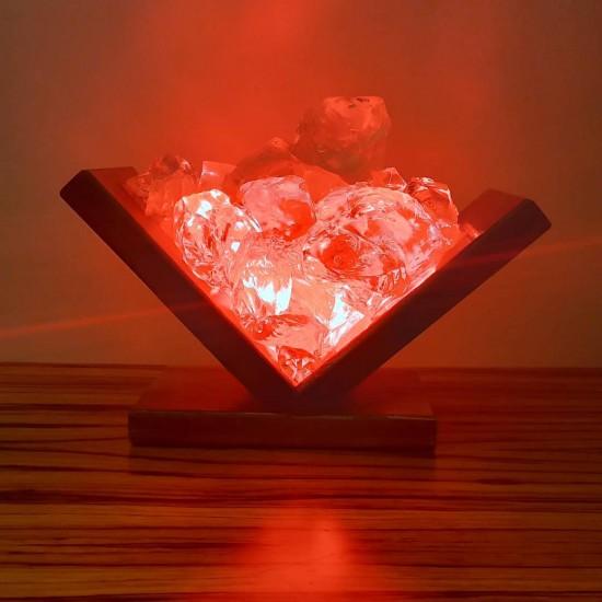 Book Shaped Handmade Red Light