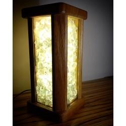 Wooden Handmade Yellow Light Home Aaccessory