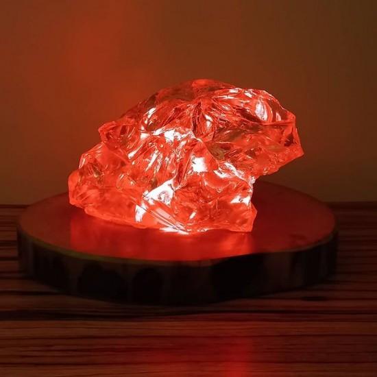 Rock Shaped Wooden Light Handmade