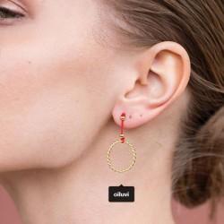 Handmade Earrings Circle
